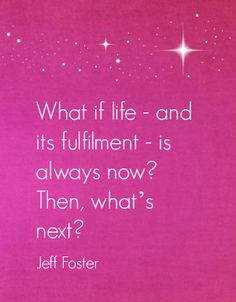 Jeff Foster Wisdom