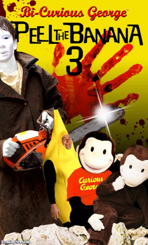 Funny Bi-Curious George and Jason with a Chainsaw