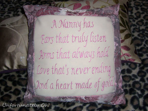 present for my Nanny! She loves things with sentimental poems ...