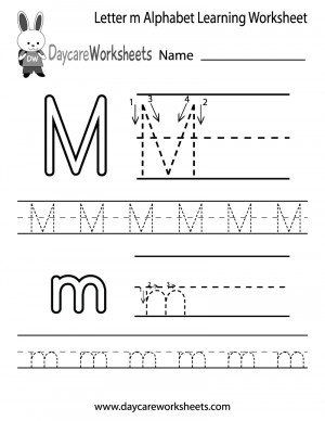 Large Letter Printables For