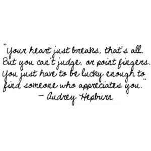 Audrey Hepburn Heartbreak