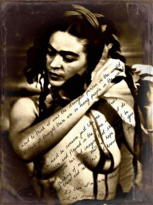 Frida Kahlo Art Print Quote Original Photomontage by ARTDECADENCE