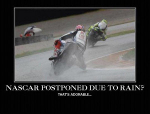 WAH my tires might get wet!