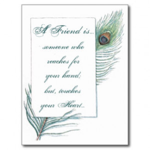Friendship Love Quote Inspirational Peacock Postcard