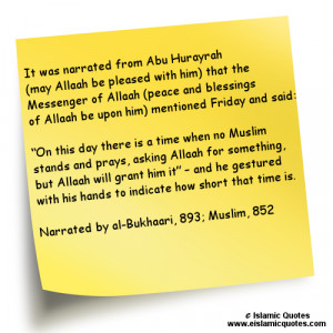 Islamic Quotes on Jummah (Friday)
