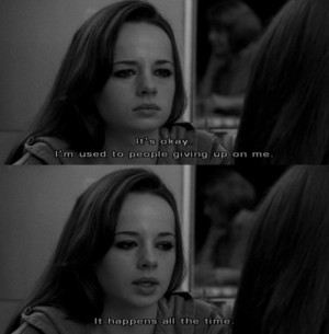 ashley rickards, black and white, giving up, one tree hill, quote ...