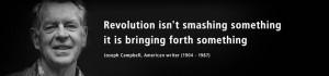 Revolution isn't smashing something - it is bringing forth something