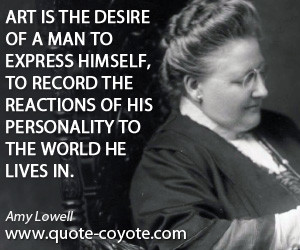 Amy Lowell Quote