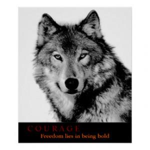 Black White Wolf Posters & Prints
