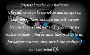 True meaning of friendship..