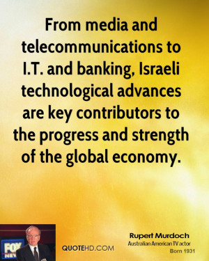 From media and telecommunications to I.T. and banking, Israeli ...