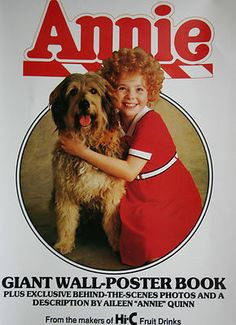 UNUSED! 1982 Little Orphan ANNIE Movie Wall Poster With Sandy The Dog ...