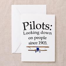 Pilots: Looking down on peopl Greeting Card for