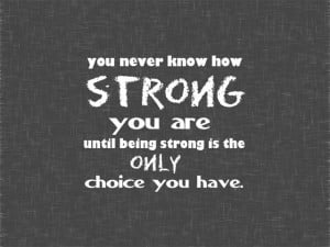 Our personal strength is amazing!