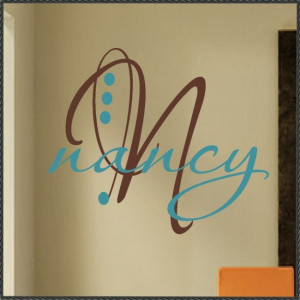 Vinyl Wall Words Quotes Decal Custom Initial