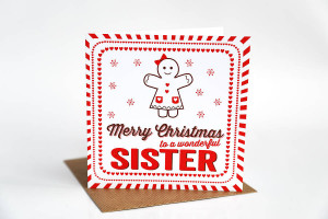 ... sister my sisters christmas card christmas cards for sister merry