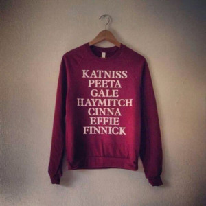 sweater hunger games catching fire mockingjay katniss peeta gale ...