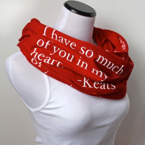 Love Poem Scarf Keats Poetry Scarf Valentine's Day Gift by ModLux, $35 ...