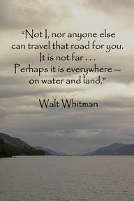 Walt Whitman Quote More