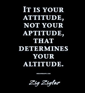 Attitude Determines Altitude Quote