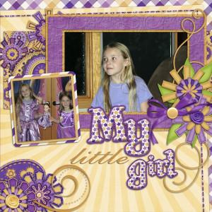 Little Girl Scrapbooking