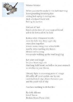 Winter Solstice poem - beautiful!!