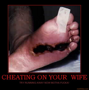CHEATING ON YOUR WIFE - TRY RUNNING AWAY NOW MOTHA FUCKA!