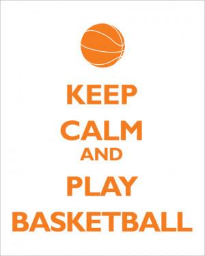Home Prints and Posters Keep Calm and Play Basketball, premium art ...