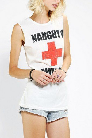 Corner Shop Naughty Nurse Tee