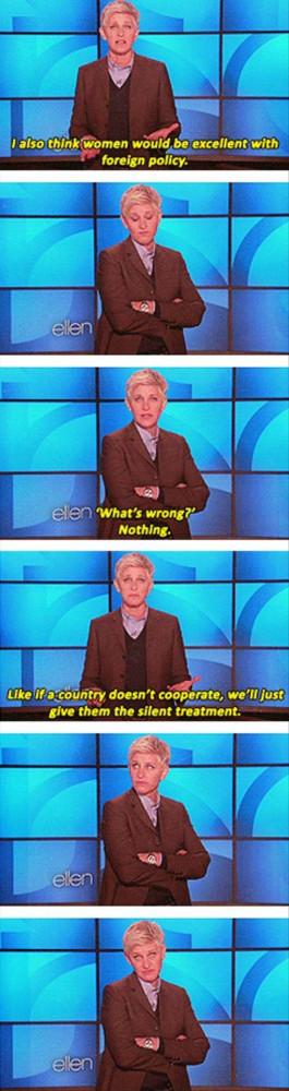Funny Ellen Degeneres Quote...