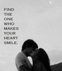 Find The One Who Makes Your Heart Smile ~ Kindness Quote