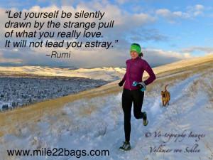 ... quotes, Rumi, marathon, half-marathon, 10K, 5K, Mile 22 Bags