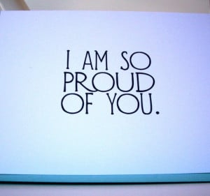 am so proud of you Greeting Card