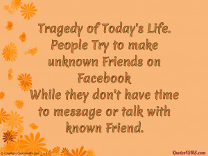 Facebook Quotes About Friends Friends on facebook