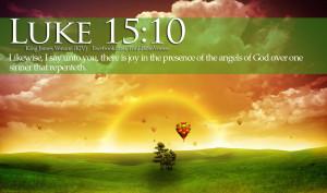 Bible Verses On Joy Luke 15:10 Landscape Sunrise HD Wallpaper