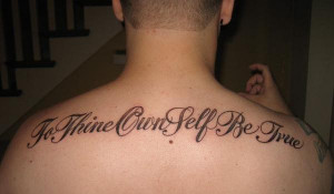 Quotationed Tattoo
