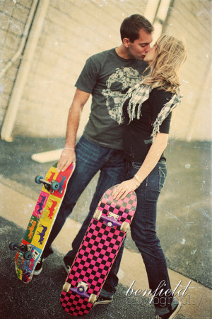 Skater couple engagement session: Joplin wedding photographer