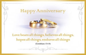 Religious Wedding Anniversary Wishes Anniversary wishes with gold