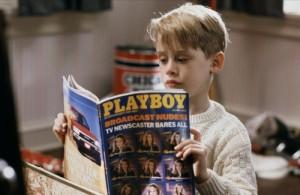 boy, cute, funny, macaulay culkin, playboy