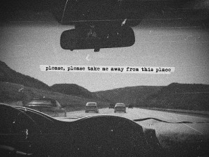 art, black white, car, photography, quote, true