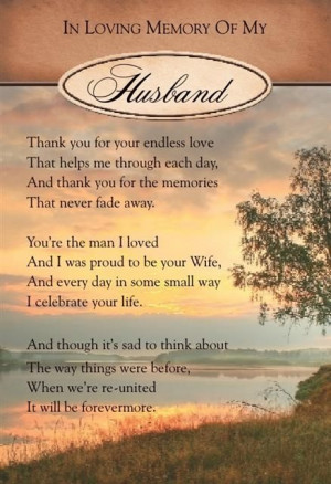 Husband Quotes, Memories Card, Remembrance Quotes, Grief Husband ...
