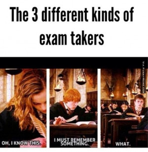 Funny memes – 3 different exam takers