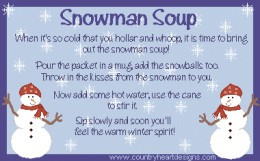 Snowman Sayings and Recipe