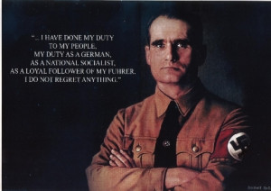 Rudolf Hess Quotes Rudolf hess poster a3