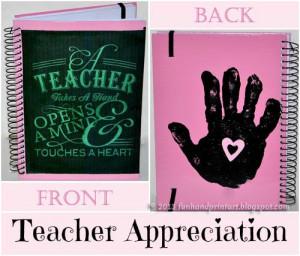 Handprint Notebook Teacher Gift with Cute Saying
