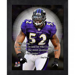 NFL - Ray Lewis Baltimore Ravens 12x15 Framed ProQuote