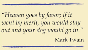 Mark Twain dog quote