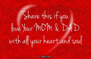 Love My MOM & DAD | Others on Slapix.com