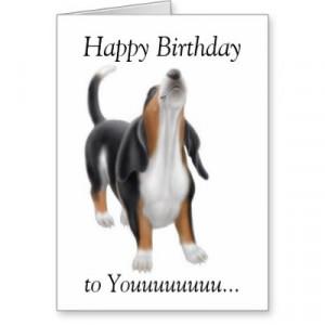 Singing Birthday Cards on Happy Birthday Singing Basset Hound Dog Card ...