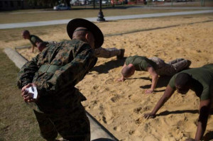 ... training session. (Lance Cpl. MaryAnn Hill/Marine Corps Recruit Depot